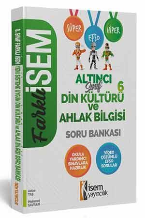 Farklı İsem 6. Sınıf Din Kültürü ve Ahlak Bilgisi Soru Bankası İsem Yayıncılık