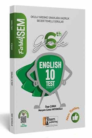 2021 Farklı İsem 6. Sınıf İngilizce Tamamı Çözümlü 10 Fasikül Deneme İsem Yayıncılık