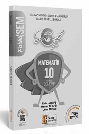 2021 Farklı İsem 6. Sınıf Matematik Tamamı Çözümlü 10 Fasikül Deneme İsem Yayıncılık