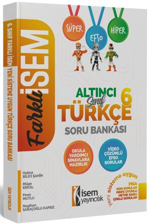 Farklı İsem 6. Sınıf Türkçe Soru Bankası İsem Yayıncılık