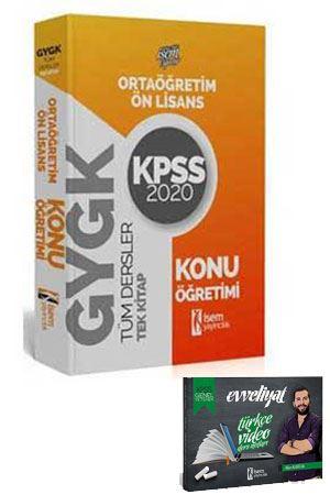 2020 KPSS Lise Ortaöğretim Ön Lisans GYGK Konu Anlatımlı Tek Kitap İsem Yayınları