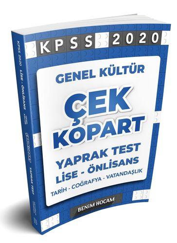 2020 Lise-Önlisans KPSS Genel Kültür Çek Kopart Yaprak Test