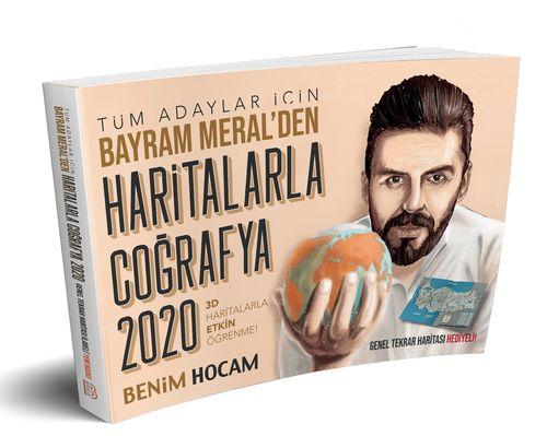 Benim Hocam 2020 KPSS ve Tüm Adaylar Haritalarla Coğrafya Bayram Meral Benim Hocam Yayınları