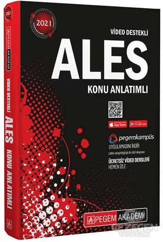 2021 ALES Konu Anlatımlı Video Destekli | Pegem Akademi Yayıncılık - Sınav Kitapları