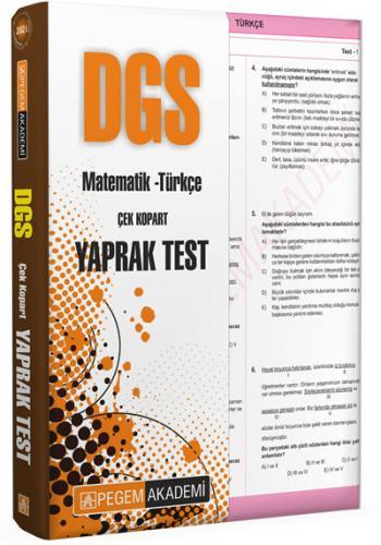2021 DGS Çek Kopar Yaprak Test  Pegem Akademi Yayıncılık