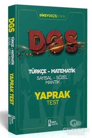 İsem 2021 DGS Türkçe - Matematik Sayısal - Sözel Mantık Çek Kopar Yaprak Test