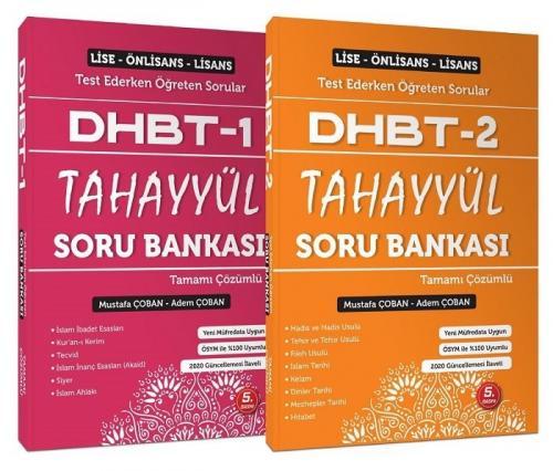 2021 DHBT 1-2 Soru Bankası Çözümlü Set - Mustafa Çoban, Adem Çoban Tahayyül Yayınları *