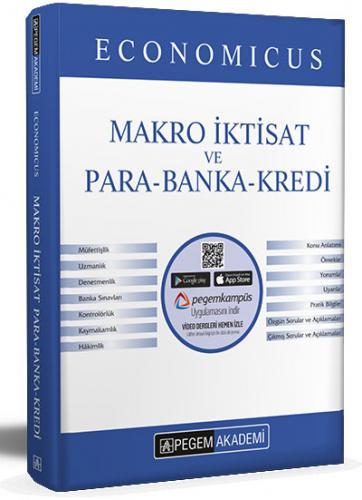 2021 KPSS A Grubu Economicus Makro İktisat ve Para-Banka-Kredi Konu Anlatımı  Pegem Akademi Yayıncılık