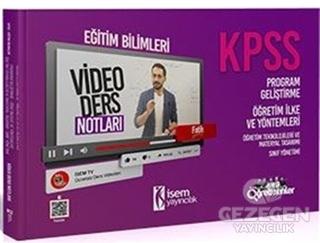 İsem 2021 KPSS Eğitim Bilimleri Program Geliştirme - Öğretim İlke ve Yöntemleri Video Ders Notları