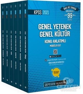 2021 KPSS Genel Yetenek Genel Kültür Konu Anlatımlı Modüler Set (6 Kit