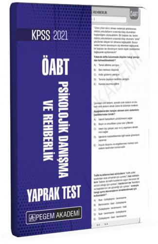 2021 KPSS ÖABT Psikolojik Danışma ve Rehberlik Yaprak Test |Pegem Akademi Yayıncılık