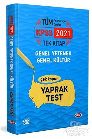 2021 KPSS Tek Kitap Genel Yetenek - Genel Kültür Çek Kopar Yaprak Test