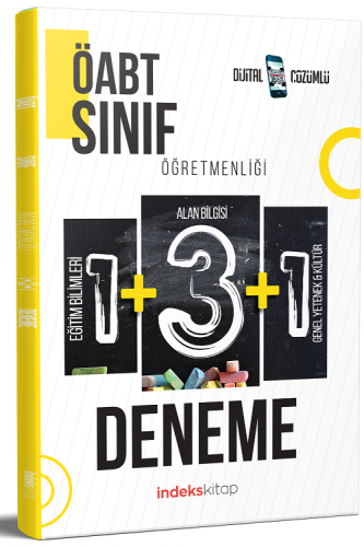 2021 ÖABT Sınıf Öğretmenliği 5 Deneme Dijital Çözümlü İndeks Kitap *