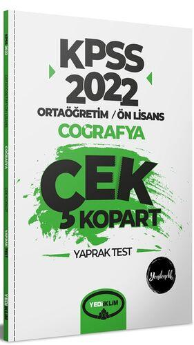 2022 KPSS Ortaöğretim Ön Lisans Genel Kültür Coğrafya Çek Kopart Yaprak Test