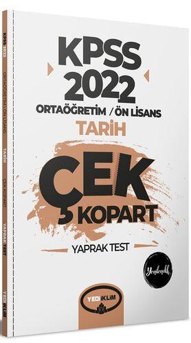 2022 KPSS Ortaöğretim Ön Lisans Genel Kültür Tarih Çek Kopart Yaprak Test