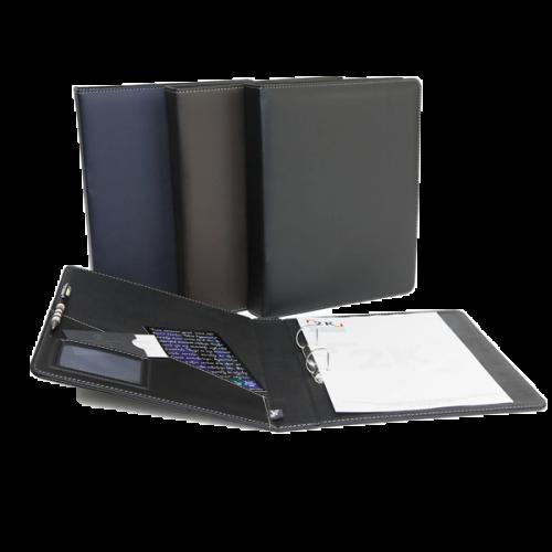 2K Sunum Klasörü 2 Halkalı Suni Deri 40 MM A5 Siyah  534S