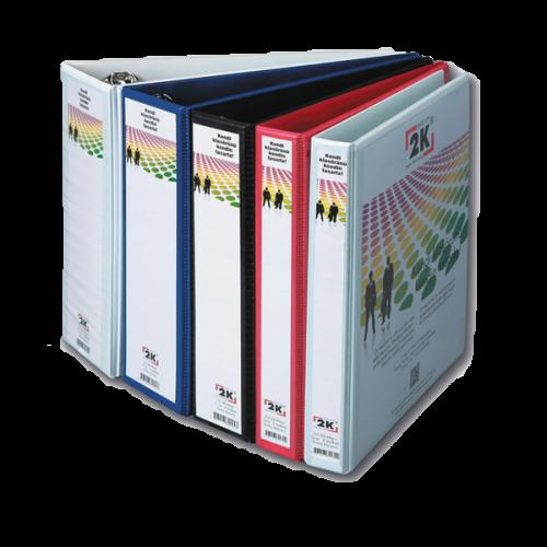 2K Sunum Klasörü Cepli 4 Halkalı 20 MM Beyaz 02-4D-B