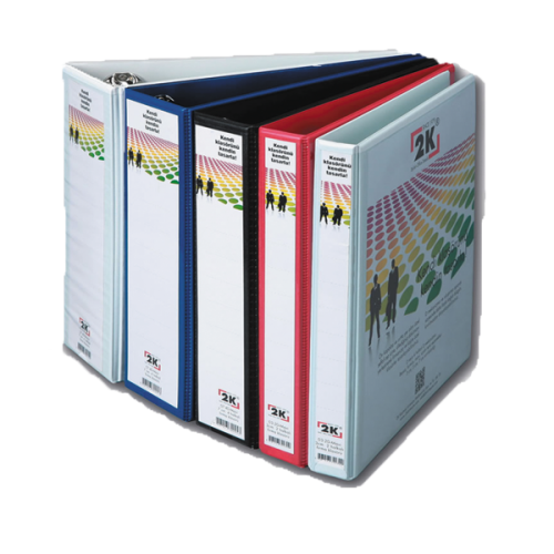 2K Sunum Klasörü Cepli 4 Halkalı 50 MM Beyaz 05-4D-B