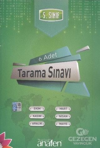 5. Sınıf Tarama Sınavı (6 Adet)