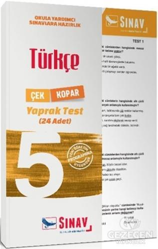 5. Sınıf Türkçe Çek Kopar Yaprak Test Sınav Yayınları   KitapGezegeni