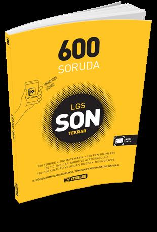 Hız Yayınları LGS 600 Soruda Son Tekrar Video Çözümlü