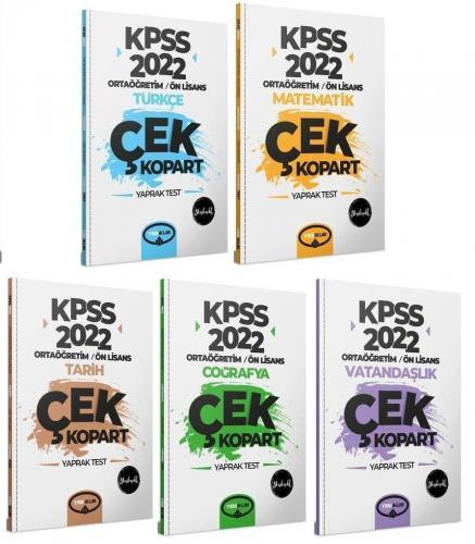2022 KPSS Ortaöğretim Lise Ön Lisans GYGK Çek Kopart Yaprak Test 5 li Set   Yediiklim Yayınları