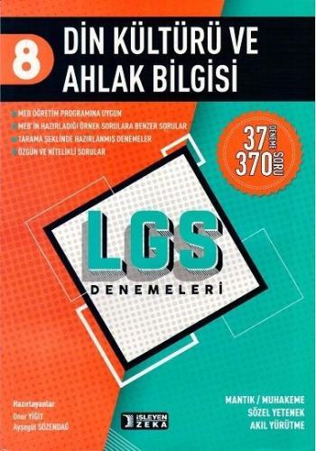 İşleyen Zeka LGS 8. Sınıf Din Kültürü ve Ahlak Bilgisi 37 Deneme 370 Soru İşleyen Zeka Yayınları