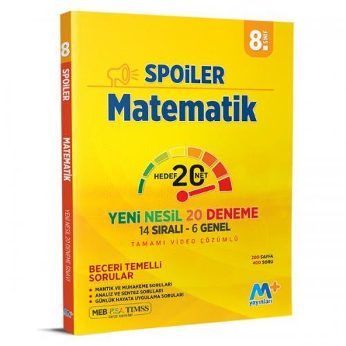 8. Sınıf LGS Matematik Spoiler Denemeleri Martı Okul Yayınları