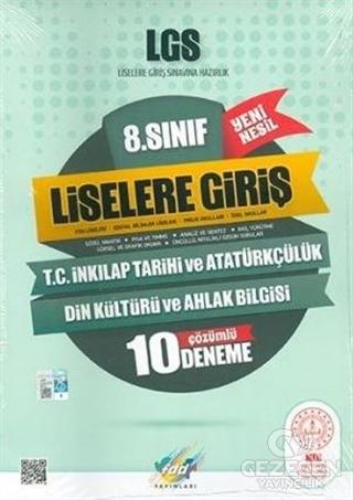 8.Sınıf LGS T.C.Inkılap Tarihi ve Atatürkçülük 10 Çözümlü Deneme Yeni Nesil