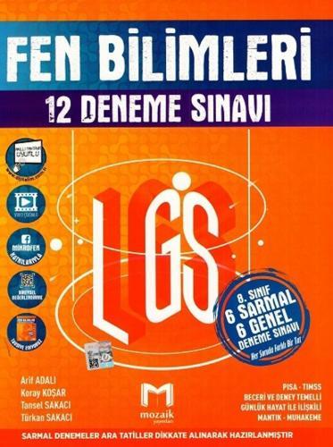 Mozaik Yayınları 8. sınıf LGS Fen Bilimleri 12 li Deneme Sınavı