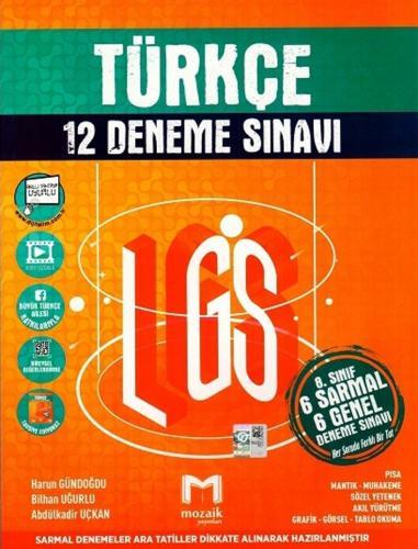 Mozaik Yayınları 8. sınıf LGS Türkçe 12 li Deneme Sınavı