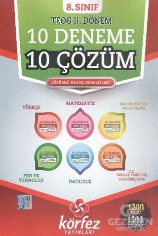 8. Sınıf TEOG 2. Dönem 10 Deneme 10 Çözüm