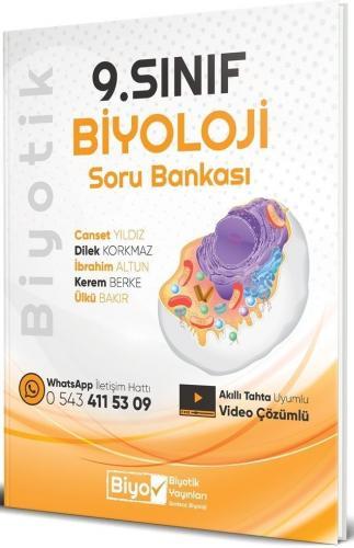 Biyotik 9. Sınıf Biyoloji Soru Bankası Video Çözümlü Biyotik Yayınları