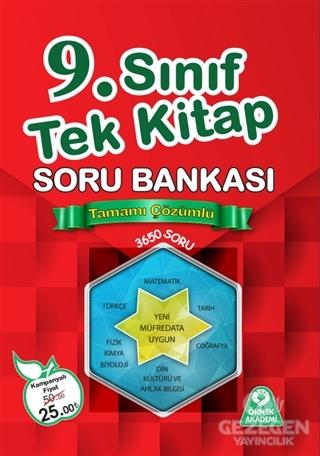 9. Sınıf Tek Kitap Tamamı Çözümlü Soru Bankası