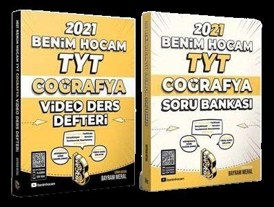 2021 YKS TYT Coğrafya Video Ders Defteri + Soru Bankası 2 li Set - Bayram Meral | Benim Hocam Yayınları