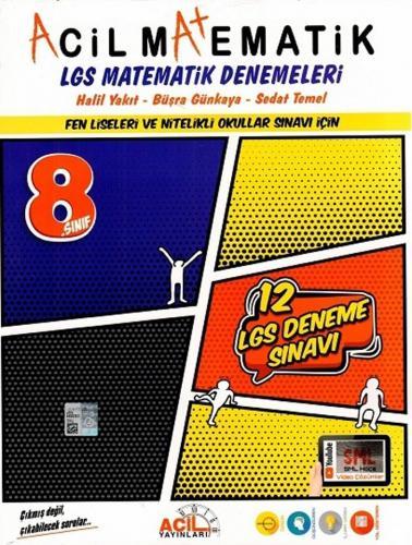 Acil Yayınları 8. Sınıf LGS Acil Matematik 12 li Denemeleri