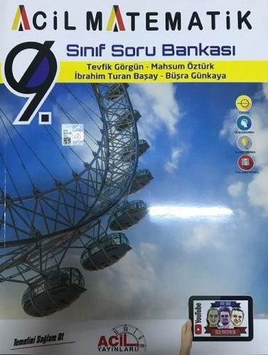 Acil Yayınları 9. Sınıf Acil Matematik Soru Bankası