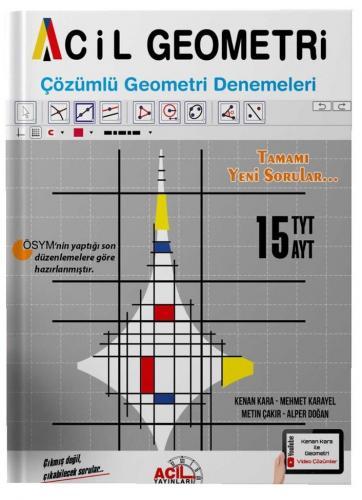 Acil Yayınları TYT AYT Acil Geometri 15 Çözümlü Denemeleri