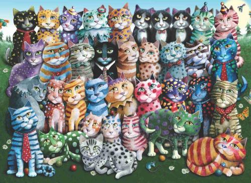 Anatolian Aile Toplantısı Cat Family Reunion 1000 Parça Puzzle - Yapboz