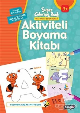 Aktiviteli Boyama Kitabı  İngilizce Alfabe Ve Sayılar