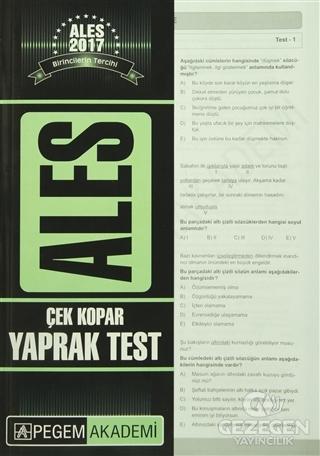 Ales Çek Kopar Yaprak Test 2017 | Pegem Akademi Yayıncılık - Sınav Kitapları