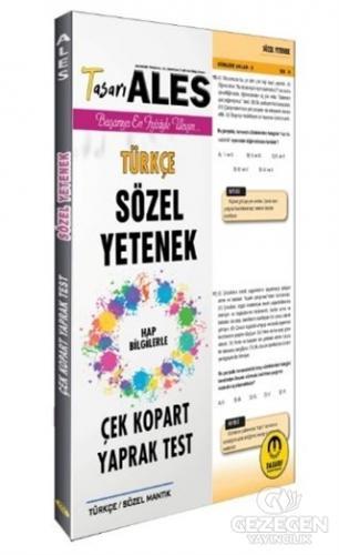 ALES Türkçe Sözel Yetenek Yaprak Test 2020 | Tasarı Yayıncılık