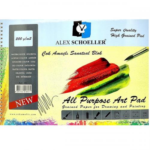 Alex Schoeller Çok Amaçlı Sanatsal Blok 15 YP 25x35 200 GR ALX-893