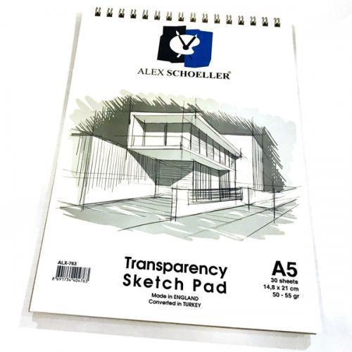 Alex Schoeller Eskiz Blok Spiralli 50/55 GR A5 30 YP ALX-0763