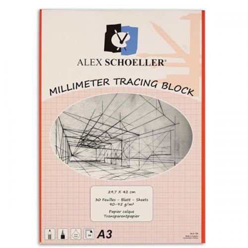 Alex Schoeller Milimetrik Aydınger A4 30 YP Kırmızı