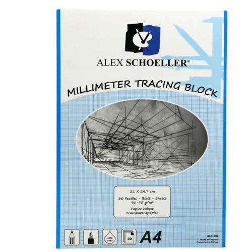 Alex Schoeller Milimetrik Aydınger A4 30 YP Mavi