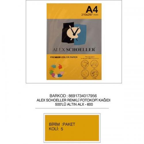 Alex Schoeller Renkli Fotokopi Kağıdı 500 LÜ A4 80 GR Altın (Gold ) ALX-600