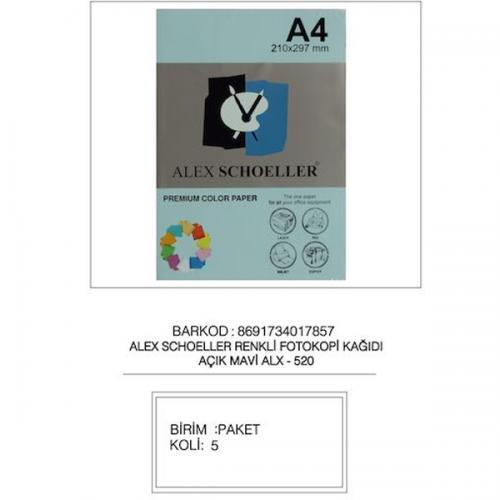 Alex Schoeller Renkli Fotokopi Kağıdı 500 LÜ A4 80 GR Koyu Yeşil (Green) ALX-590