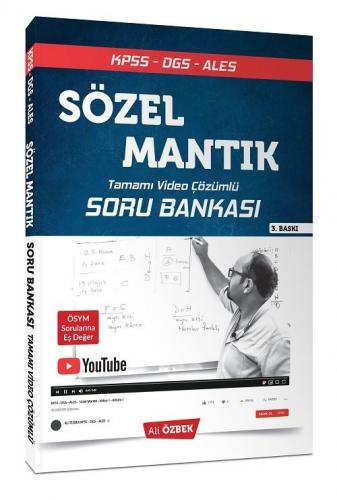 Ali Özbek 2021 KPSS DGS ALES Sözel Mantık Soru Bankası Video Çözümlü Ali Özbek *