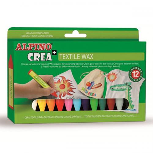 Alpino Mum Pastel Boya Crea Textil Wax 12 Lİ PX-01